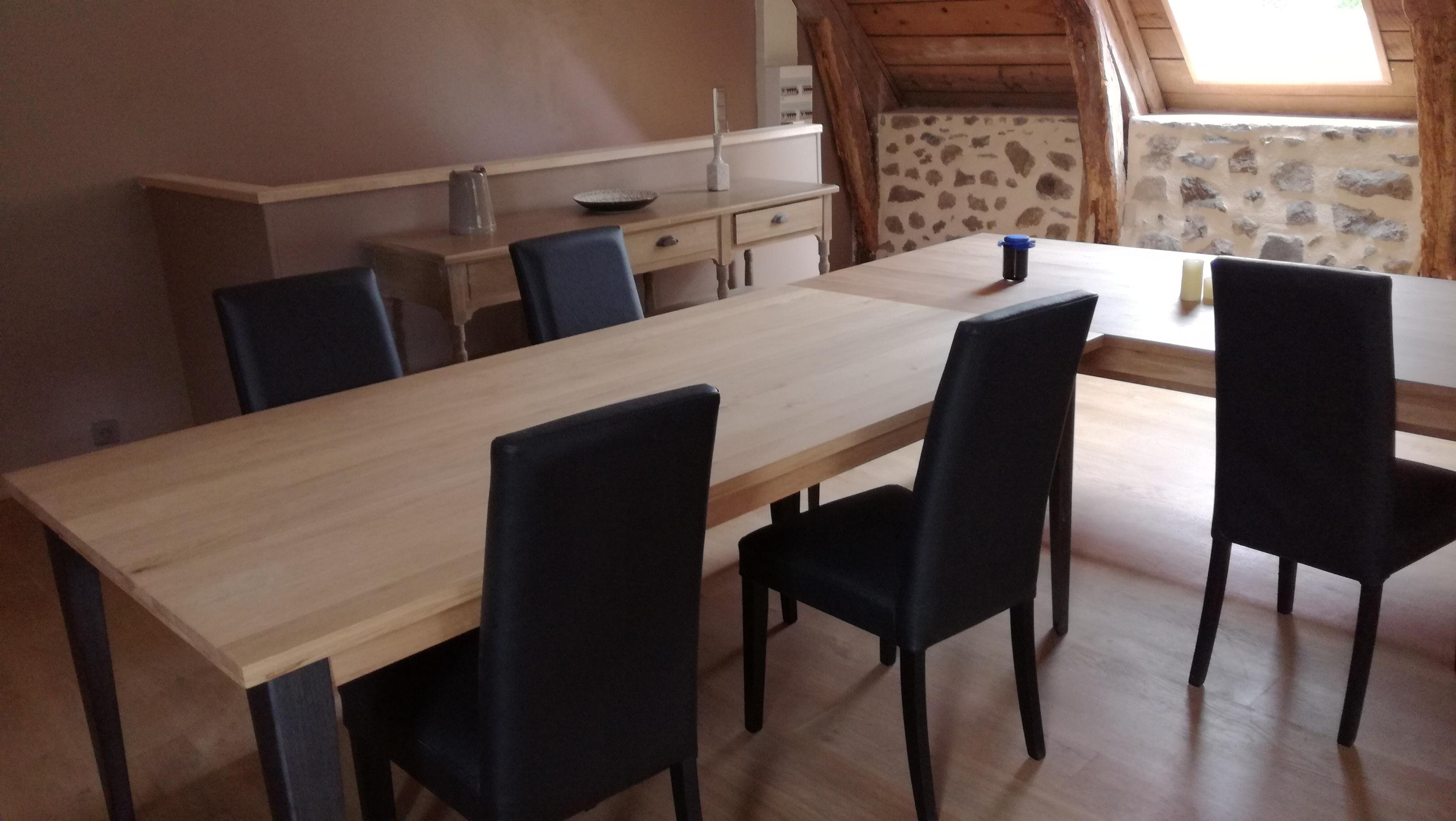salle à manger;chaise cuir