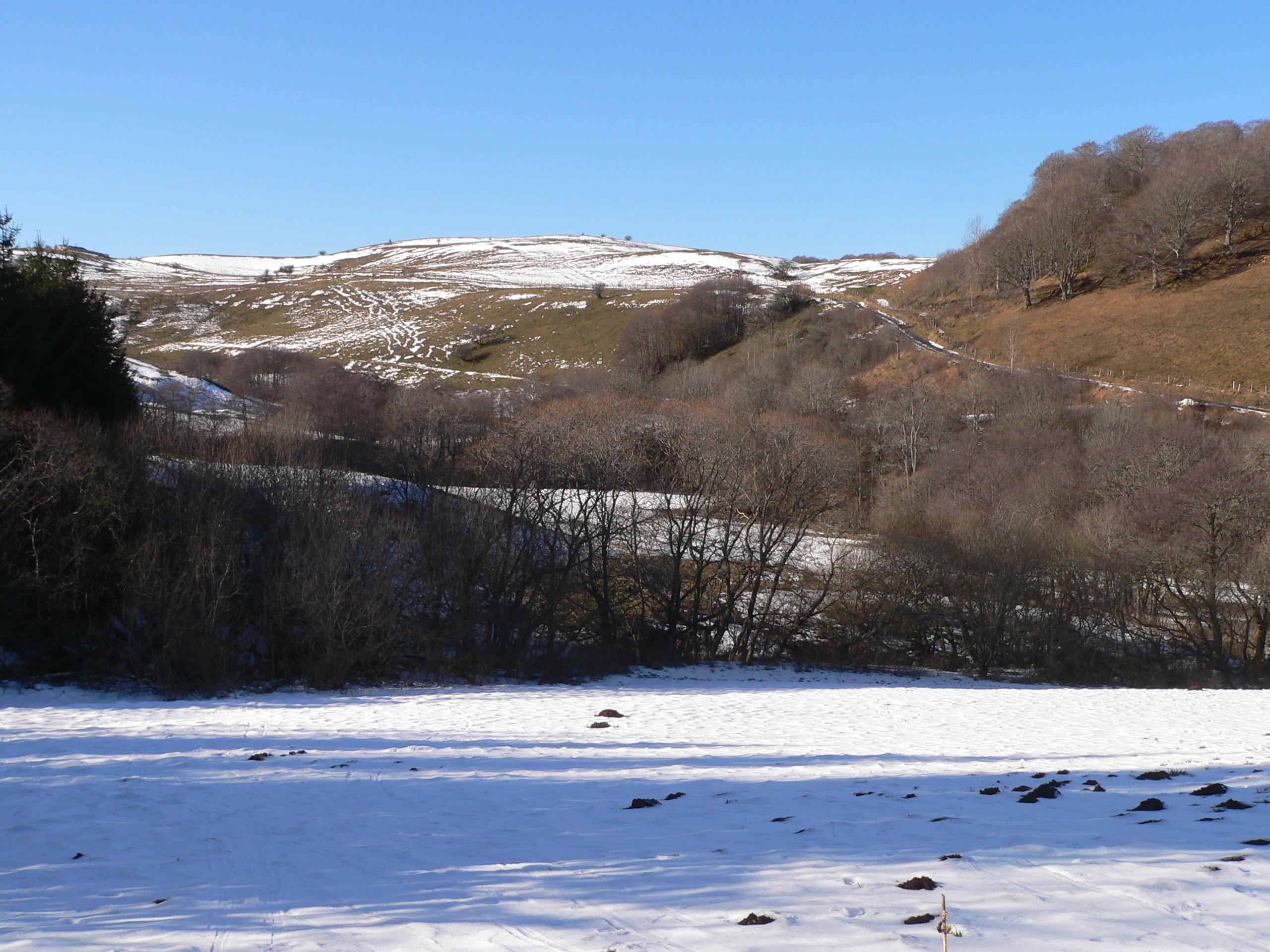 neige;hiver; auvergne; gîte